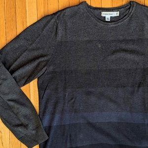 Calvin Klein Men's Ombre Striped Pullover Sweater